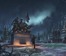 рисованное, комиксы, памятник, caravan, challenge, кладбище, last, man, standing, инвалид, честь, человек