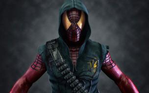 рисованное, комиксы, герой, человек, man, паук, маска, spider
