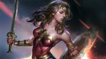 рисованное, комиксы, wonder, woman, Чудо-женщина, супергероиня, комиксов, fan, art, арт, jeremy, chong