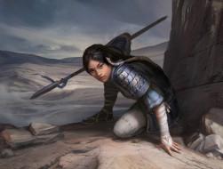 Legend of the Five Rings, поза, оружие, азиатка, арт, девушка