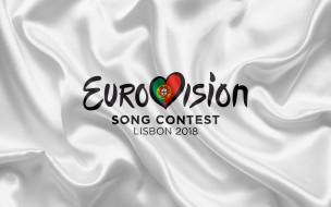 музыка, евровидение, логотип, ткань, надпись, конкурс, белый, лиссабон
