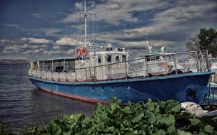 река, корабли, баркас, лодка
