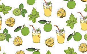 фон, текстура, lemonade, vector, pattern