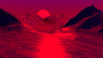 закат, горы