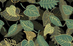 листья, фон, текстура