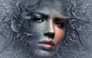 разное, компьютерный дизайн, мысли, женщина, голова, сказка, мистический, фантазия, фото, лицо, сюрреалистический, человек, настроение, фэнтези, девушка