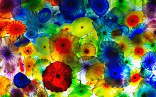 разное, компьютерный дизайн, цвета, медузы