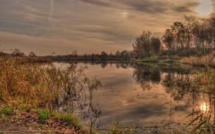 природа, восходы, закаты, озеро, закат