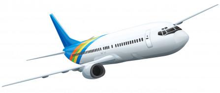 авиация, 3д, рисованые, v-graphic, полет, самолет