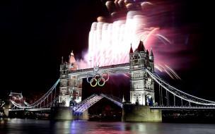 города, лондон , великобритания, мост, город, река