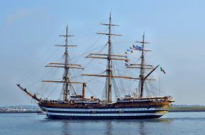 amerigo vespucci, корабли, парусники, мачты, паруса