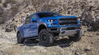 внедорожник, Ford, 2019, F-150, Raptor, blue