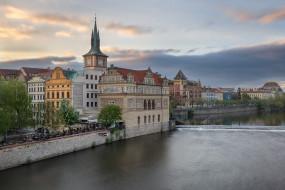 Vltava River, Прага, Smetana Museum, Чехия