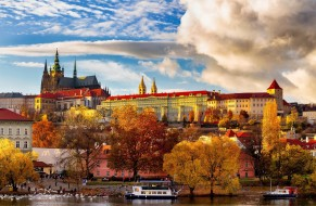 осень, Чехия, Прага