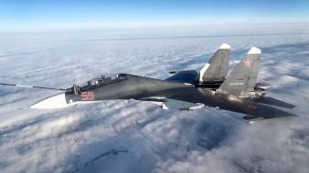 авиация, боевые самолёты, су-30см, дозаправка, в, воздухе, российский, двухместный, многоцелевой, истребитель, ввс, россии, окб, сухого, поколения, 4