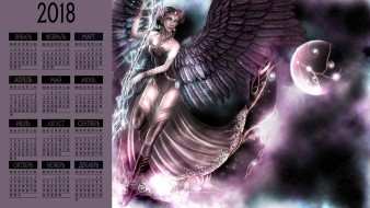 девушка, крылья