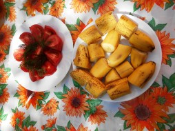 бананы, помидоры, еда