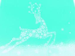 праздничные, векторная графика , новый год, олень