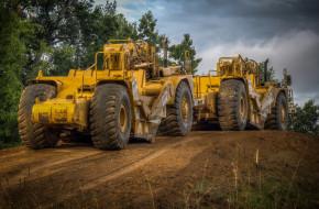 техника, грейдеры, поле, трактор