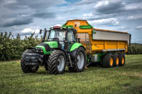 поле, трактор