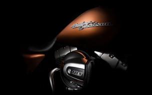 Harley Davidson, темный фон