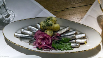 картошка, натюрморт, рыба, еда