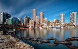 города, бостон , сша, downtown, boston, бостон, fan, pier, park