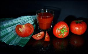 помидоры, еда, томаты, сок