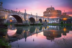замок, река, мост