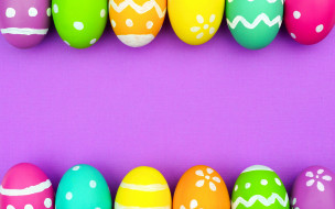 Happy Easter, Easter eggs, colorful, background, eggs, Пасха, spring