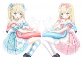 аниме, alice in wonderland, alice, in, wonderland