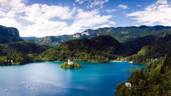 озеро, горы
