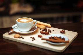печенье, анис, корица, кофе