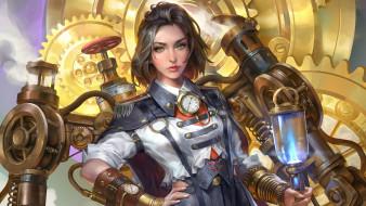 Milky Steam Engineer, Steampunk, jeremy chong, art, стимпанк