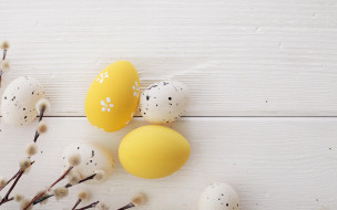 праздничные, пасха, happy, spring, decoration, верба, wood, easter, яйца, крашеные, eggs