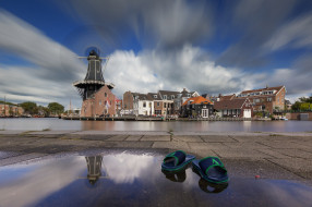 города, - улицы,  площади,  набережные, haarlem, нидерланды, голландия
