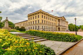norway`s royal palace, города, осло , норвегия, дворец
