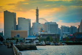 minato mirai, города, йокогама , Япония, простор