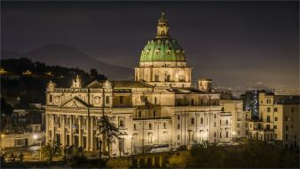 napoli - campania, города, - католические соборы,  костелы,  аббатства, простор
