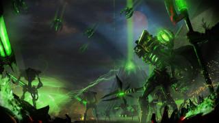 фэнтези, роботы,  киборги,  механизмы, monolith, necrons, lord, necron, army, warhammer, 40, 000