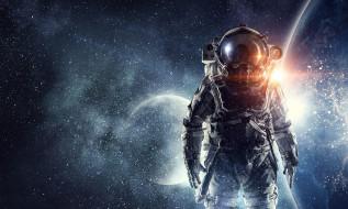 космонавт, фон
