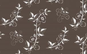 векторная графика, цветы , flowers, текстура, floral, with, vector, retro, pattern