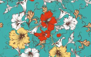 векторная графика, цветы , flowers, pattern, цветы, вектор, design, floral, текстура