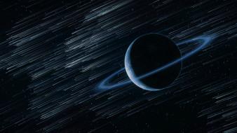 космос, звезды, кольцо, планета