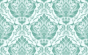 seamless, pattern, цветы, damask, фон, background, текстура
