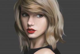 Taylor Swift, девушка, рисунок, взгляд
