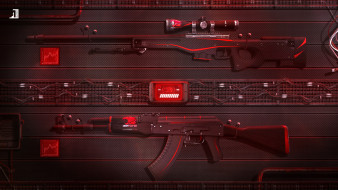 ibuypower, Redline, Sci-Fi, Game, Weapons, Global Offensive, Counter Strike, AWP, AK-47