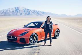 мишель родригес и jaguar f-type svr, автомобили, -авто с девушками, f-type, ягуар, актриса, svr, jaguar, мишель, родригес, michelle, rodriguez