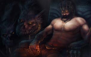 видео игры, god of war comic, игра, цербер, арт, аид, god, of, war, бог, подземное, царство
