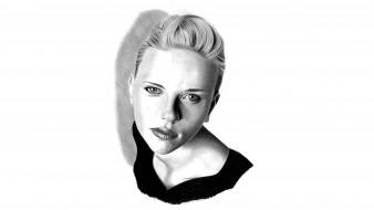 девушка, фон, взгляд, портрет